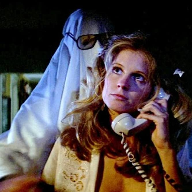 P.J. Soles and Tony Moran in Halloween (1978)