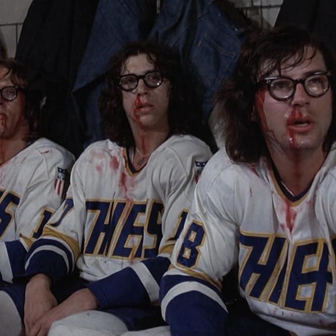 Jeff Carlson, Steve Carlson, and David Hanson in Slap Shot (1977)