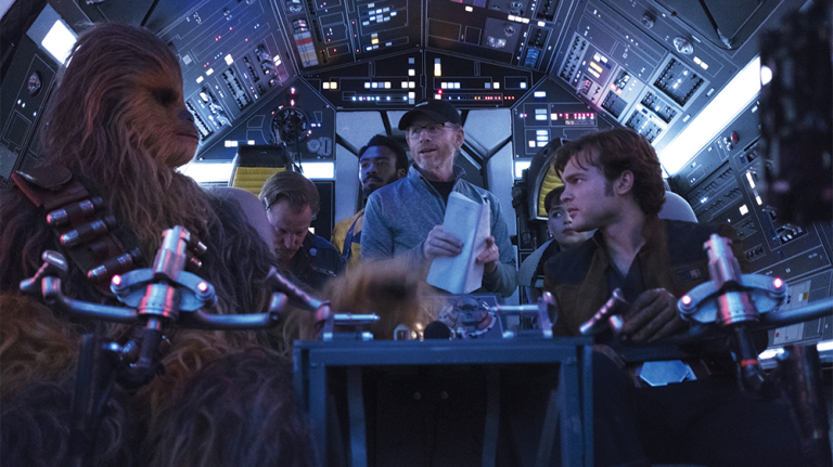 Ron Howard, Woody Harrelson, Donald Glover, Alden Ehrenreich, Emilia Clarke, and Joonas Suotamo in Solo: A Star Wars Story (2018)