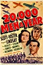 20,000 Men a Year (1939) Poster