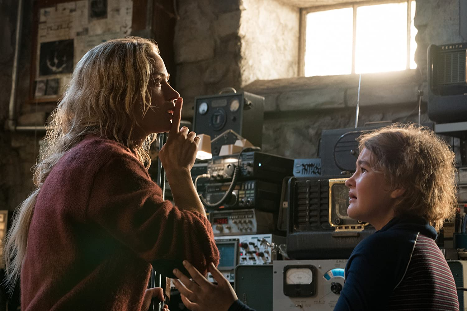 Emily Blunt and Millicent Simmonds in A Quiet Place (2018)