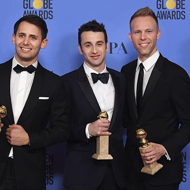Justin Paul, Benj Pasek, and Justin Hurwitz at an event for The 74th Golden Globe Awards (2017)