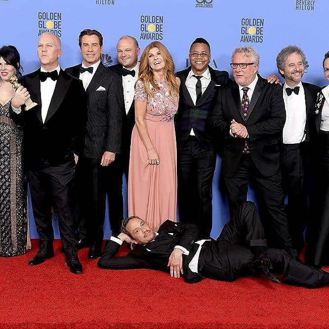 John Travolta, Cuba Gooding Jr., Courtney B. Vance, Scott Alexander, Connie Britton, Christian Clemenson, Larry Karaszewski, Ryan Murphy, and Nina Jacobson at an event for The 74th Golden Globe Awards (2017)