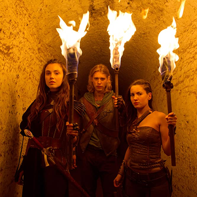Ivana Baquero, Austin Butler, and Poppy Drayton in The Shannara Chronicles (2016)