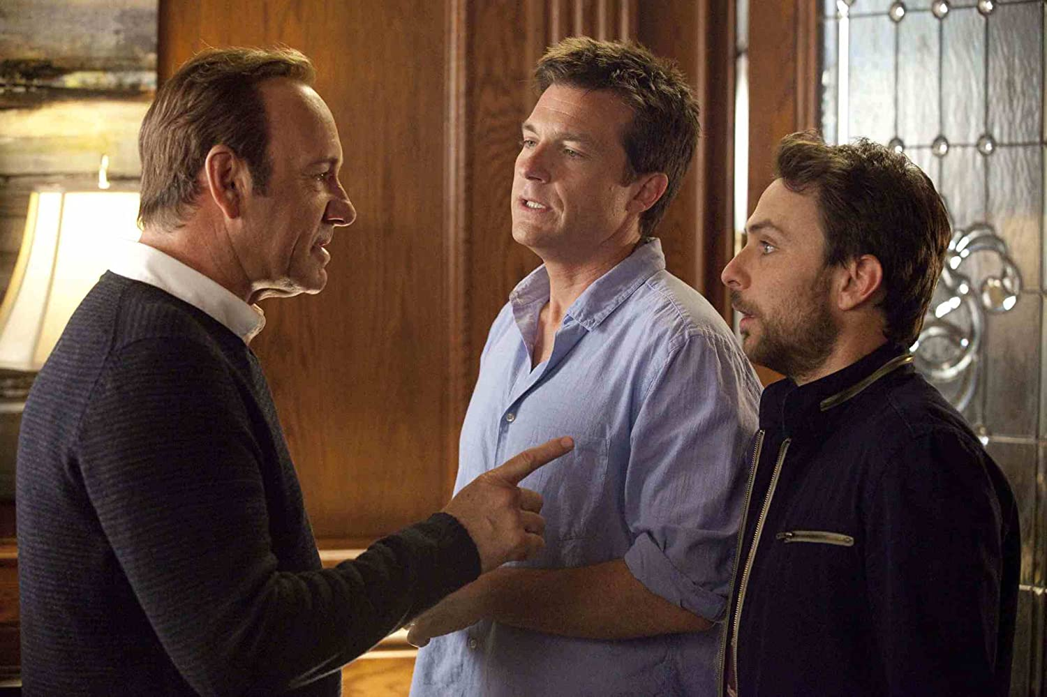 Kevin Spacey, Jason Bateman, and Charlie Day in Horrible Bosses (2011)