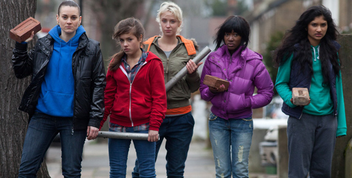 Emma Hartley-Miller, Adelayo Adedayo, Lily Loveless, Varada Sethu, and Aimee Kelly in Sket (2011)