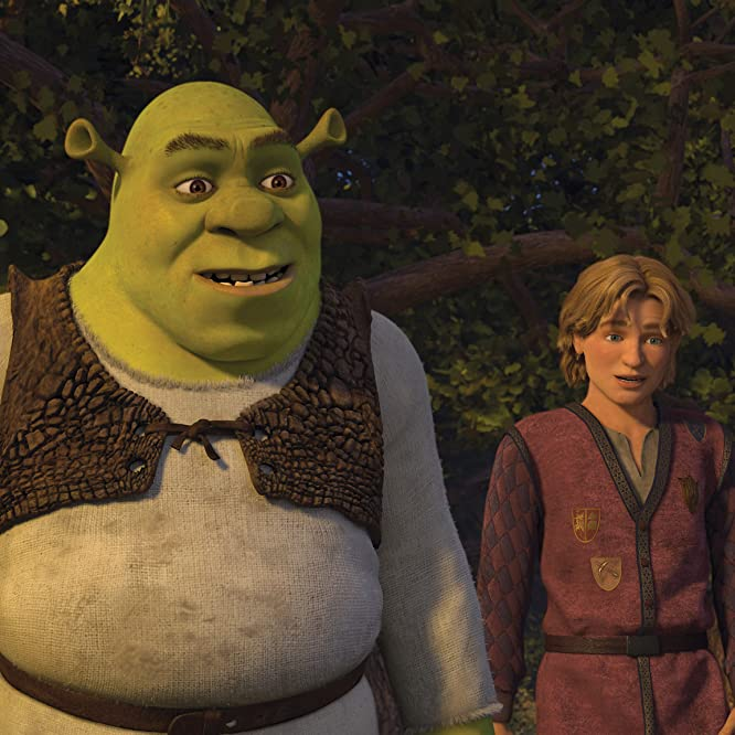 Mike Myers and Justin Timberlake in Shrek the Third (2007)
