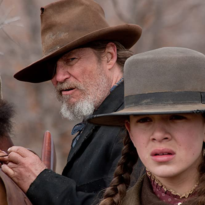 Jeff Bridges and Hailee Steinfeld in True Grit (2010)