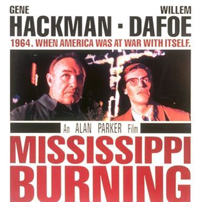 Willem Dafoe and Gene Hackman in Mississippi Burning (1988)