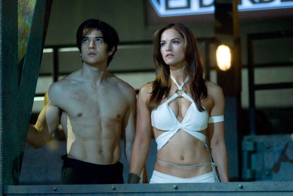 Kelly Overton and Jon Foo in Tekken (2010)