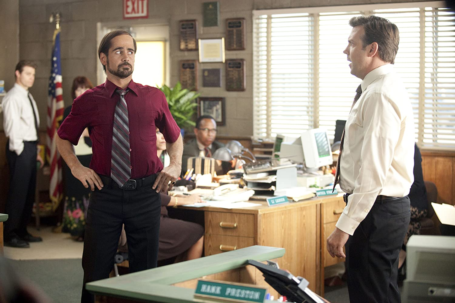 Colin Farrell and Jason Sudeikis in Horrible Bosses (2011)