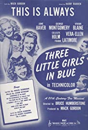 Three Little Girls in Blue Poster