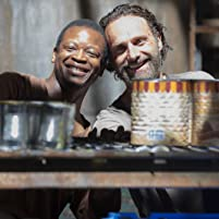 Lawrence Gilliard Jr. and Andrew Lincoln in The Walking Dead (2010)
