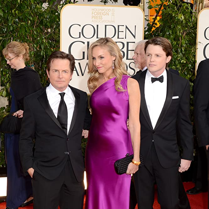 Michael J. Fox, Tracy Pollan, and Sam Michael Fox at an event for 70th Golden Globe Awards (2013)