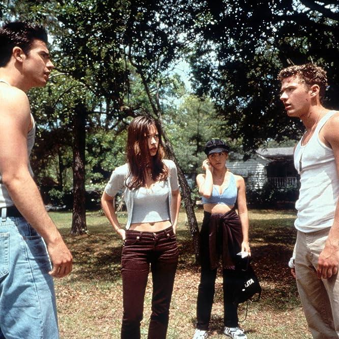 Ryan Phillippe, Sarah Michelle Gellar, Jennifer Love Hewitt, and Freddie Prinze Jr. in I Know What You Did Last Summer (1997)
