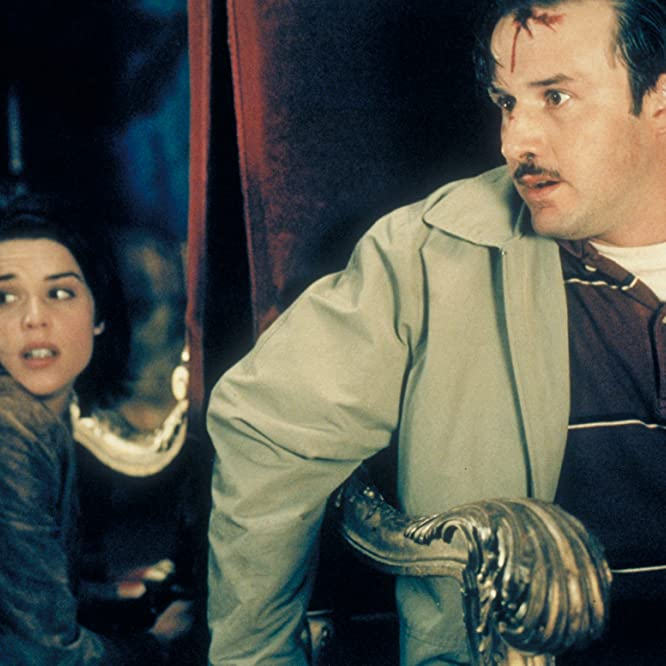 Neve Campbell and David Arquette in Scream 3 (2000)