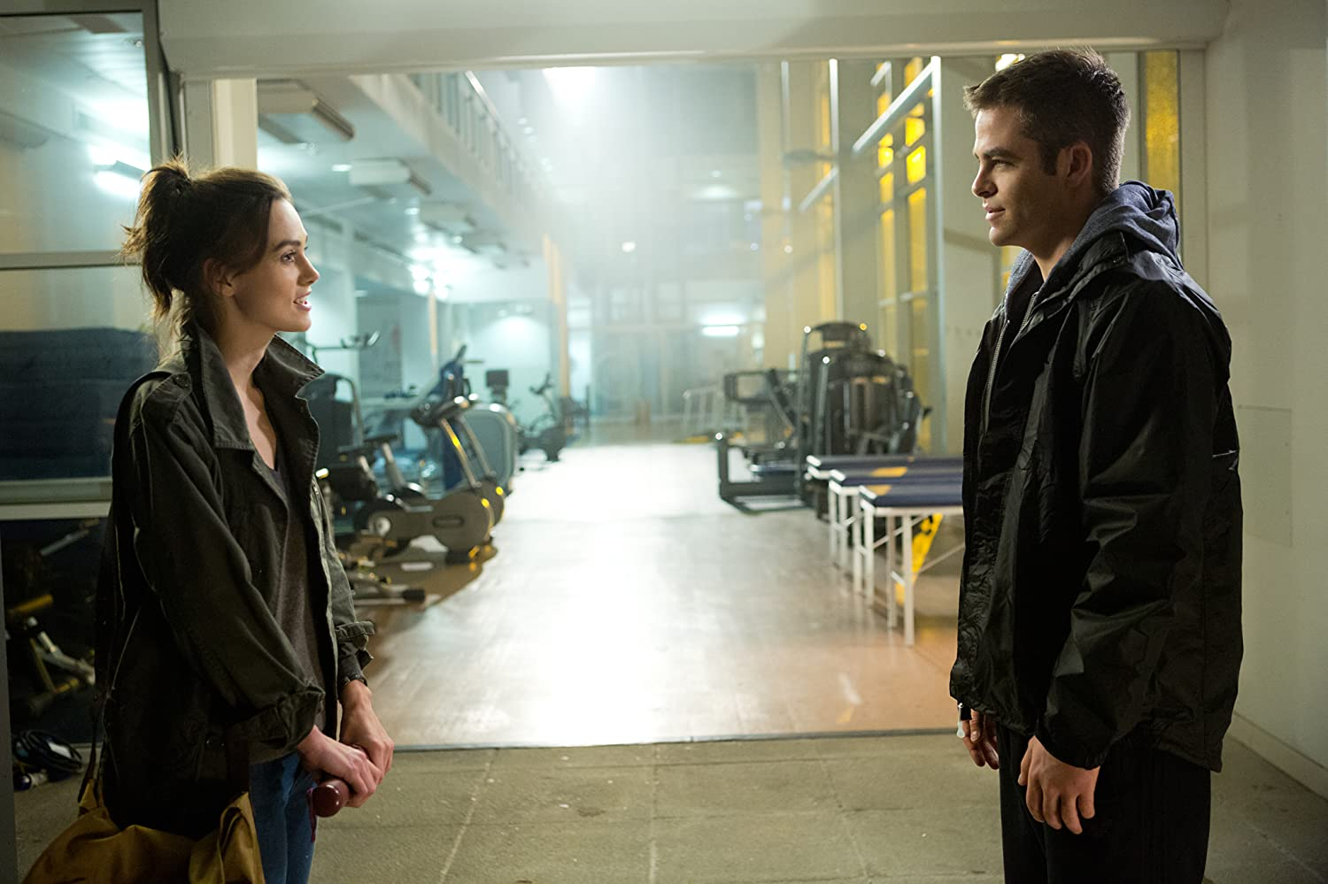 Keira Knightley and Chris Pine in Jack Ryan: Shadow Recruit (2014)