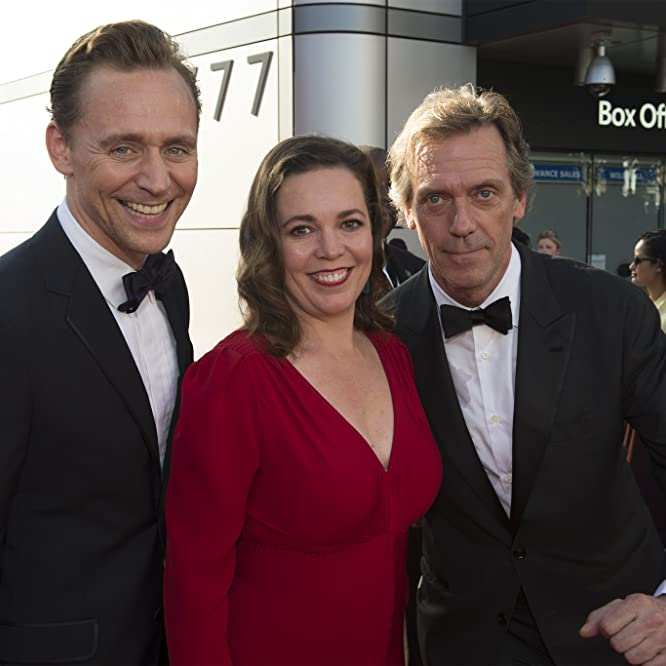 Hugh Laurie, Tom Hiddleston, and Olivia Colman at an event for The 68th Primetime Emmy Awards (2016)