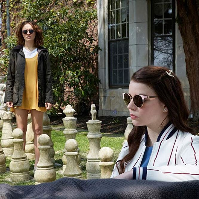 Olivia Cooke and Anya Taylor-Joy in Thoroughbreds (2017)