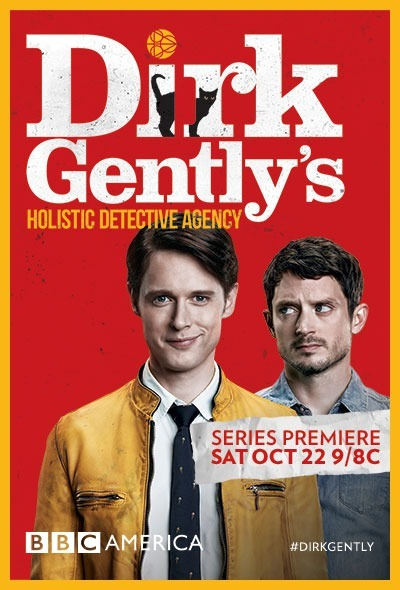 Elijah Wood and Samuel Barnett in Dirk Gentlys Holistic Detective Agency (2016)
