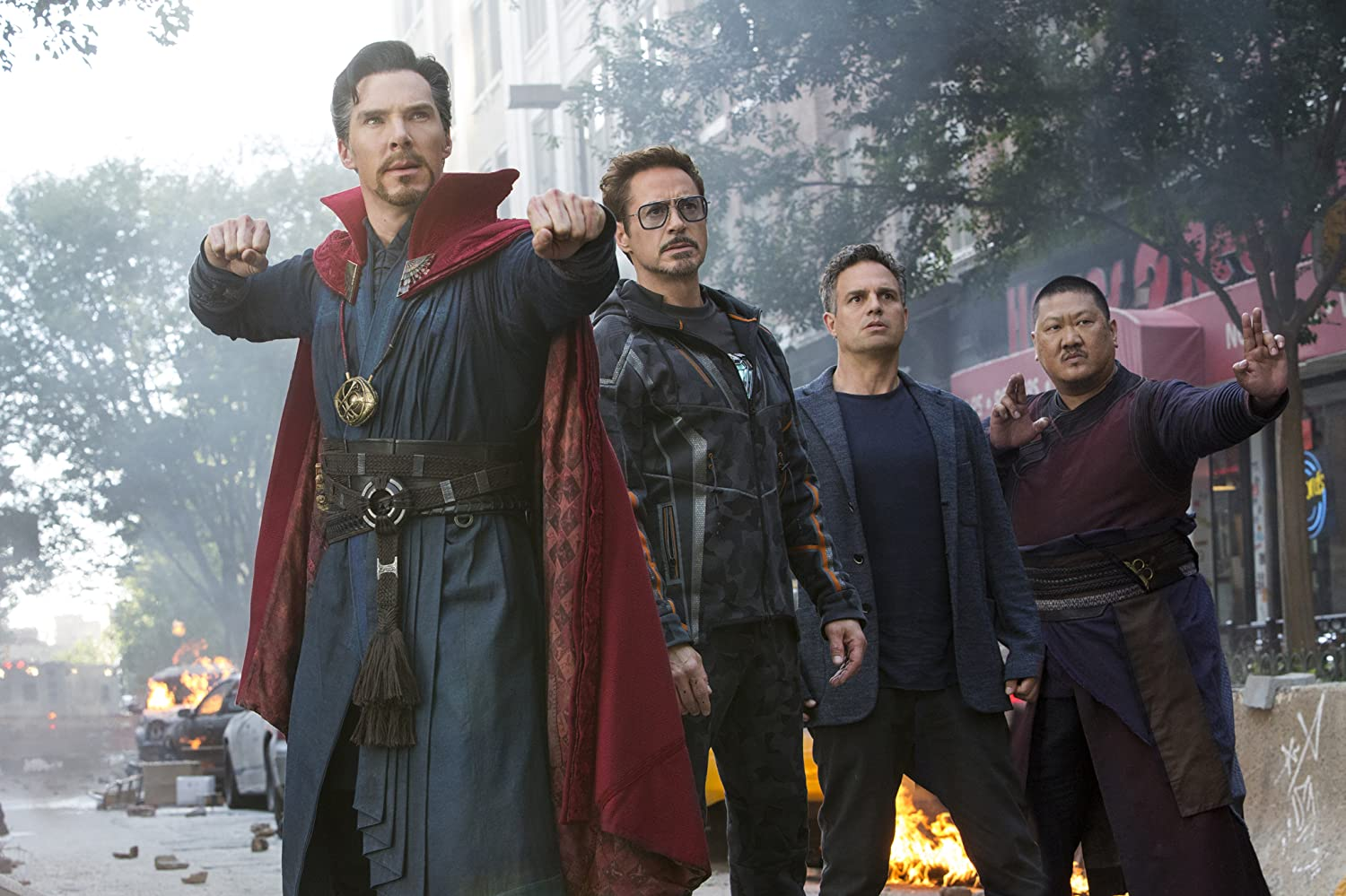 Robert Downey Jr., Mark Ruffalo, Benedict Wong, and Benedict Cumberbatch in Avengers: Infinity War (2018)