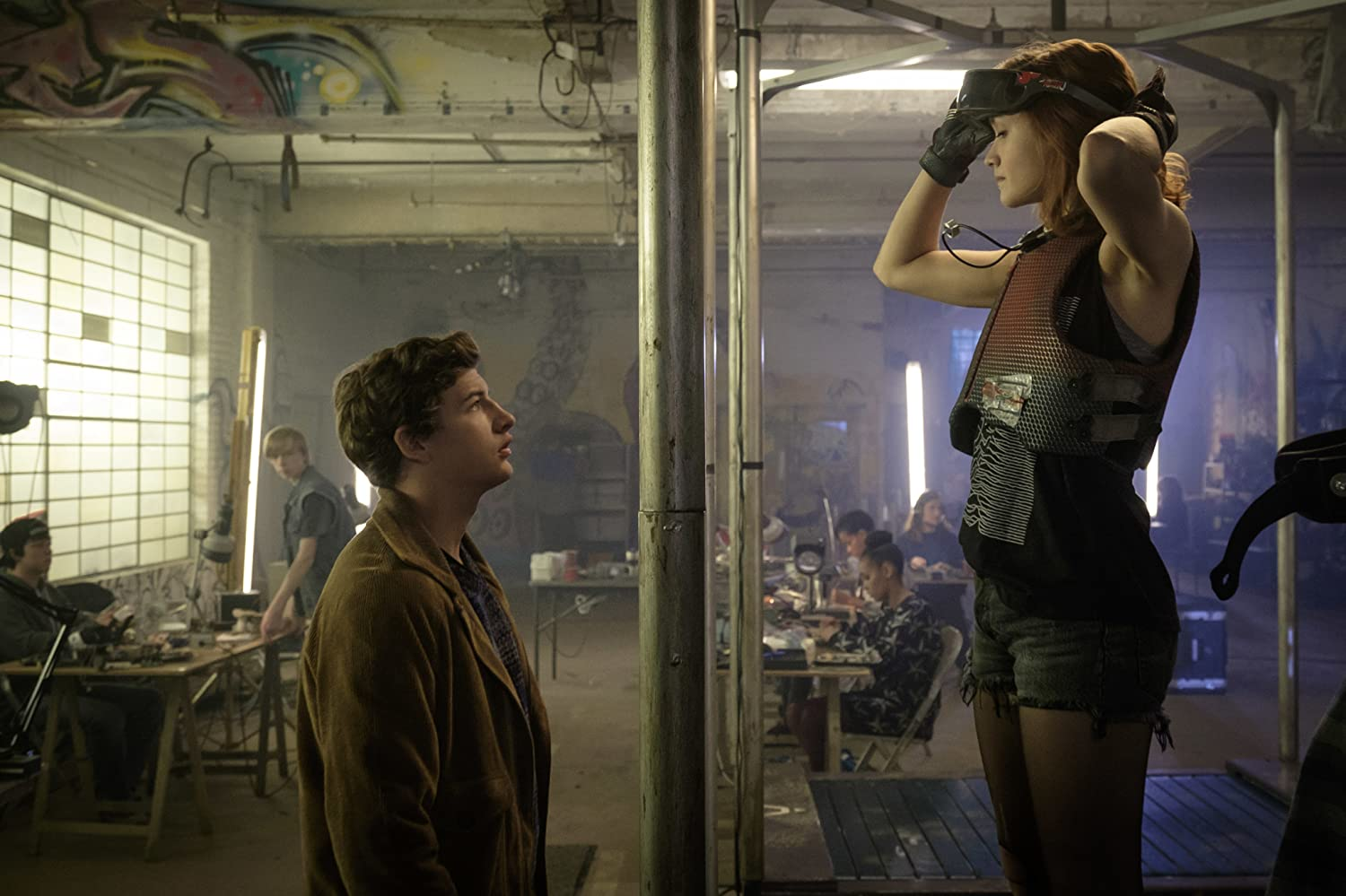 Tye Sheridan and Olivia Cooke in Ready Player One (2018)