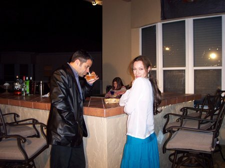 Derek Latta and Jennifer Dawson on location in Miami for 40 Seconds.