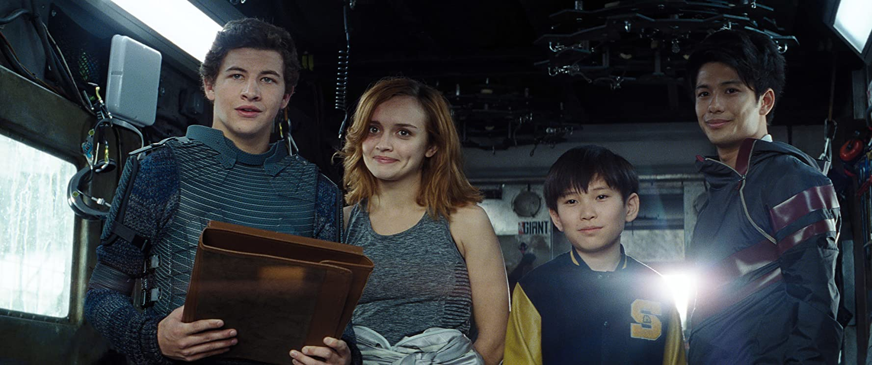 Win Morisaki, Tye Sheridan, Olivia Cooke, and Philip Zhao in Ready Player One (2018)