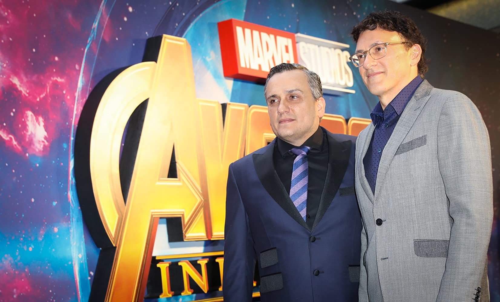 Anthony Russo and Joe Russo at an event for Avengers: Infinity War (2018)