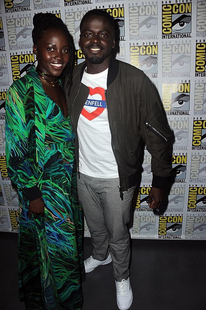 Lupita Nyong'o and Daniel Kaluuya at an event for Black Panther (2018)