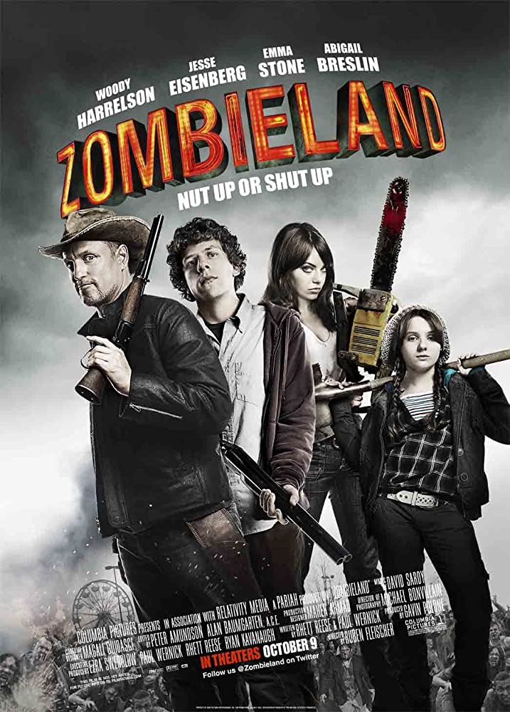 Zombieland 2009 Dual Audio Hindi 300MB BluRay 480p