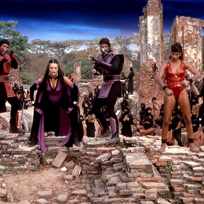 Marjean Holden, John Medlen, Musetta Vander, and Tyrone C. Wiggins in Mortal Kombat: Annihilation (1997)