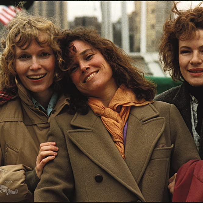 Mia Farrow, Barbara Hershey, and Dianne Wiest in Hannah and Her Sisters (1986)