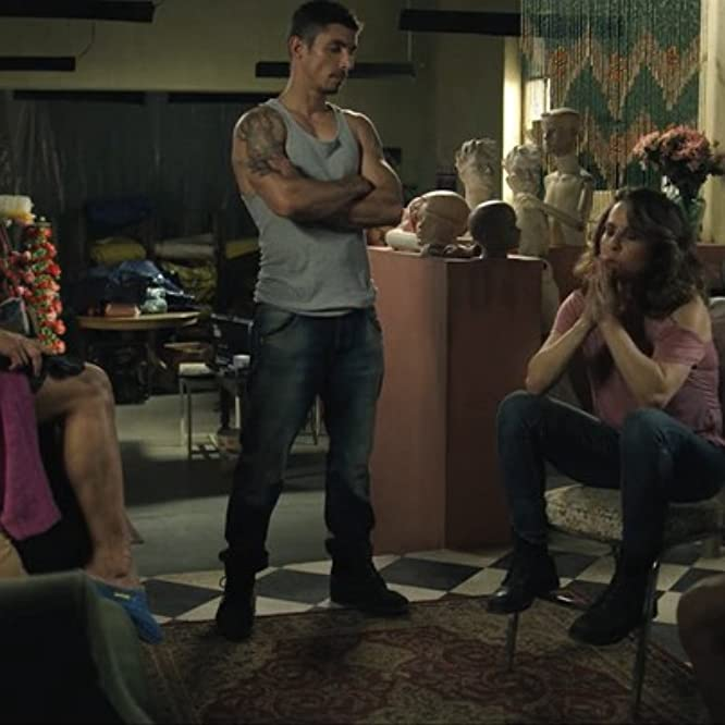 Kate del Castillo, Aida López, Maxi Iglesias, and Alberto Guerra in Ingobernable (2017)