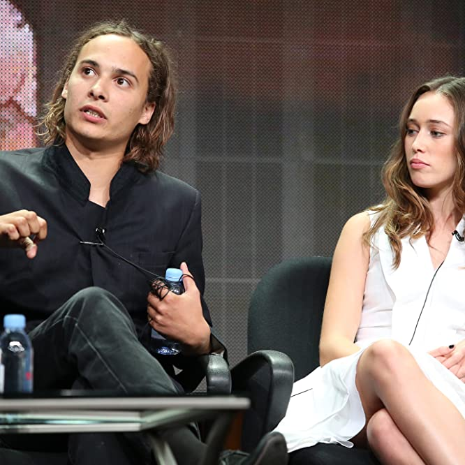Frank Dillane and Alycia Debnam-Carey at an event for Fear the Walking Dead (2015)