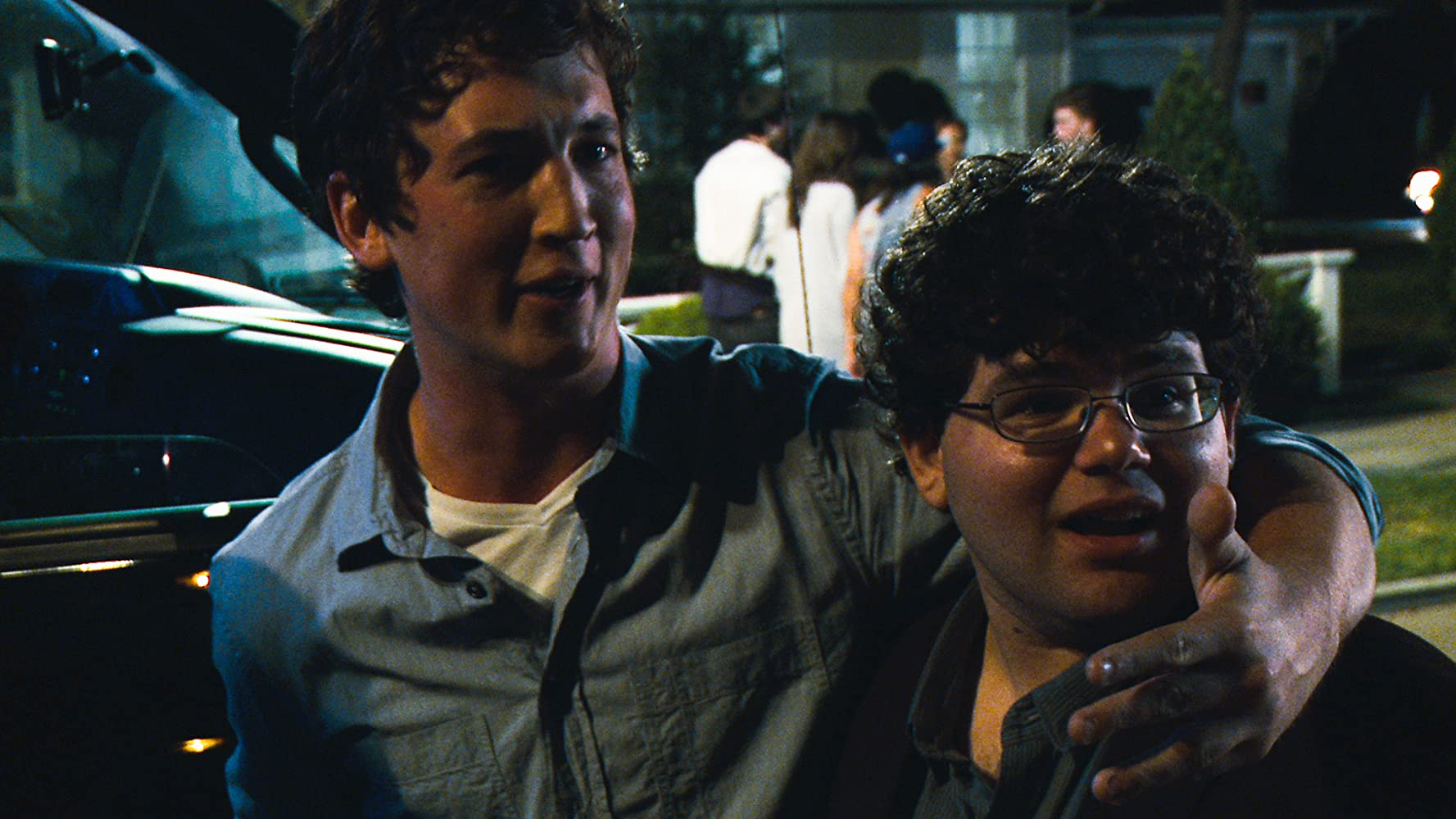 Miles Teller and Jonathan Daniel Brown in Project X (2012)