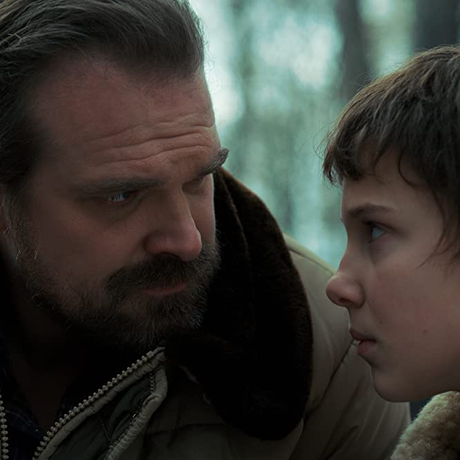 David Harbour and Millie Bobby Brown in Stranger Things (2016)