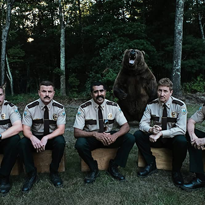 Jay Chandrasekhar, Kevin Heffernan, Steve Lemme, Paul Soter, and Erik Stolhanske in Super Troopers 2 (2018)