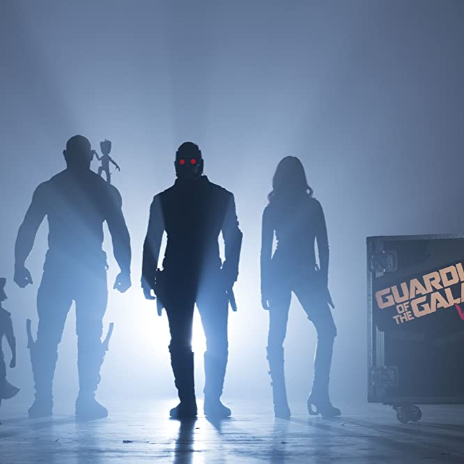 Vin Diesel, Bradley Cooper, Chris Pratt, Zoe Saldana, and Dave Bautista in Guardians of the Galaxy Vol. 2 (2017)
