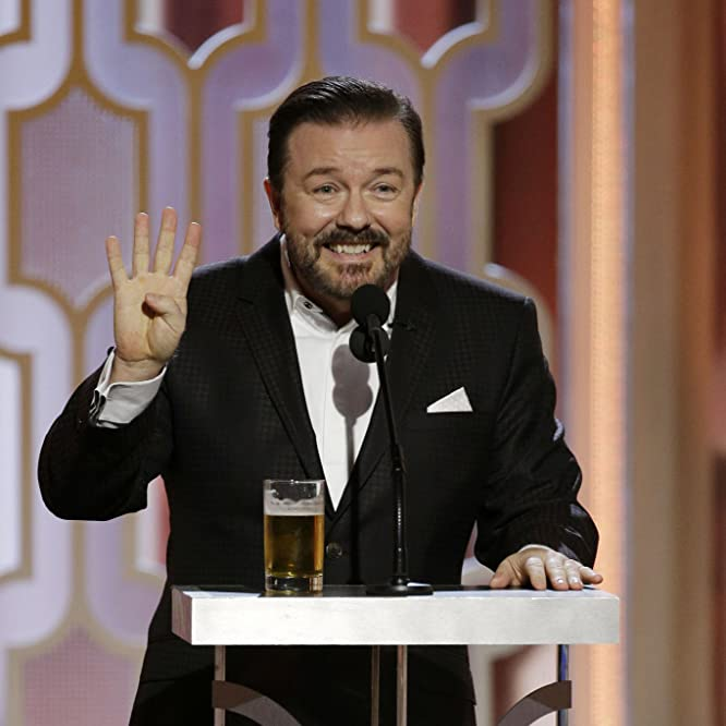 Ricky Gervais at an event for 73rd Golden Globe Awards (2016)