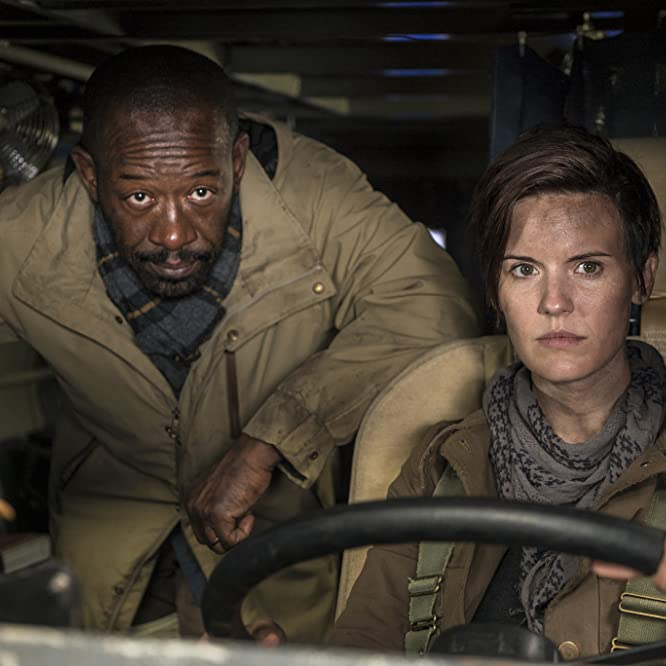Lennie James and Maggie Grace in Fear the Walking Dead (2015)