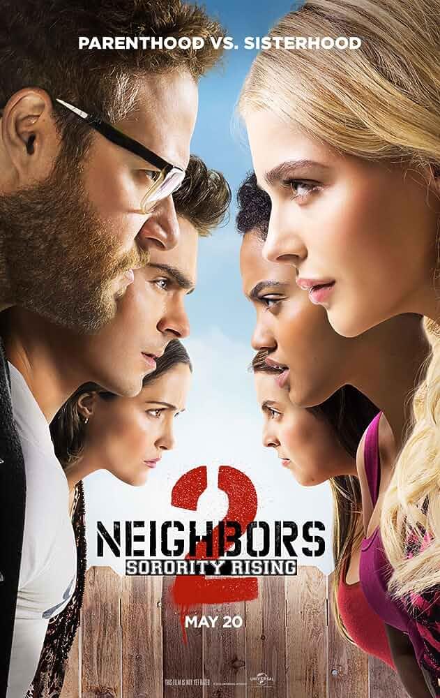 Rose Byrne, Seth Rogen, Zac Efron, Chloë Grace Moretz, Beanie Feldstein, and Kiersey Clemons in Neighbors 2: Sorority Rising (2016)