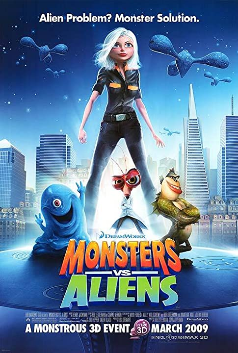 Poster Of Monsters vs. Aliens (2009) Full Movie Hindi Dubbed Free Download Watch Online At movies365.in