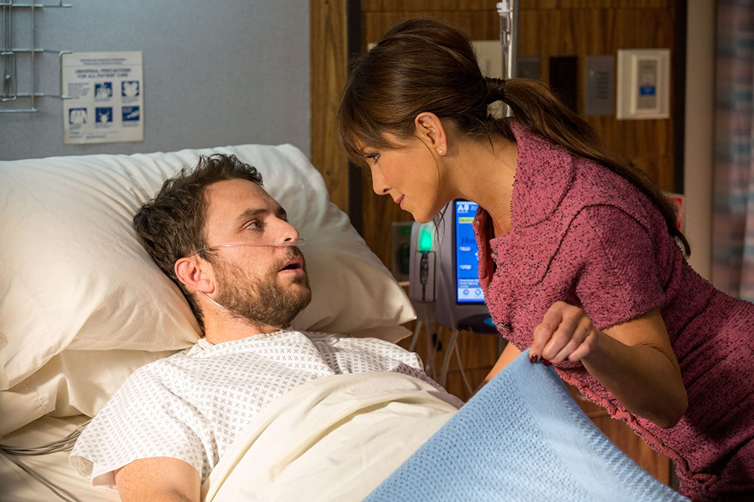 Jennifer Aniston and Charlie Day in Horrible Bosses 2 (2014)