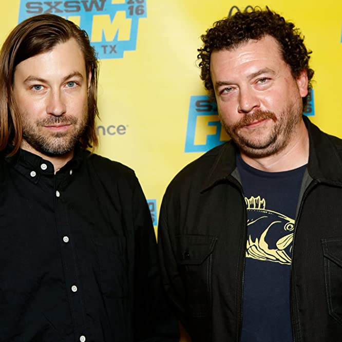 Danny McBride and Jody Hill at an event for Vice Principals (2016)