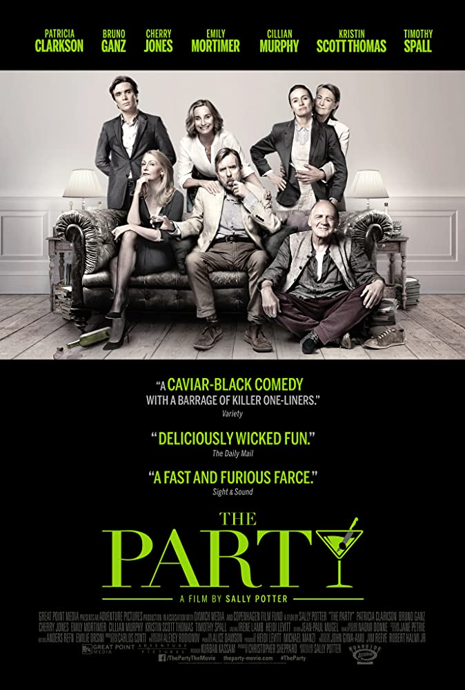 Kristin Scott Thomas, Timothy Spall, Bruno Ganz, Patricia Clarkson, Cherry Jones, Emily Mortimer, and Cillian Murphy in The Party (2017)
