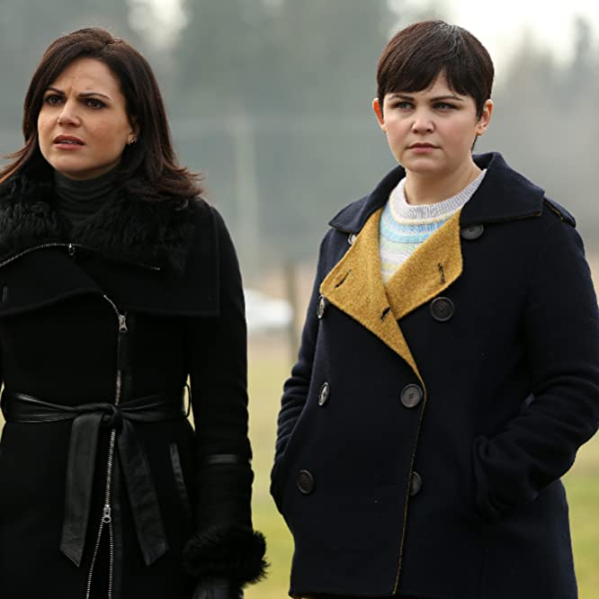 Ginnifer Goodwin and Lana Parrilla in Once Upon a Time (2011)