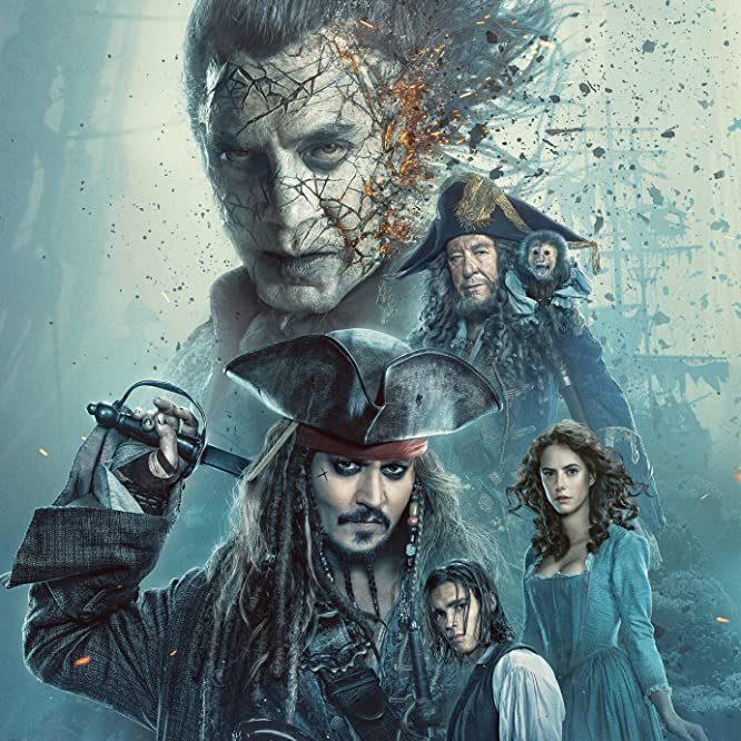 Johnny Depp, Javier Bardem, Geoffrey Rush, Kaya Scodelario, and Brenton Thwaites in Pirates of the Caribbean: Dead Men Tell No Tales (2017)