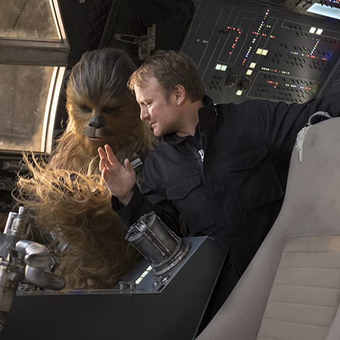 Rian Johnson and Joonas Suotamo in Star Wars: The Last Jedi (2017)