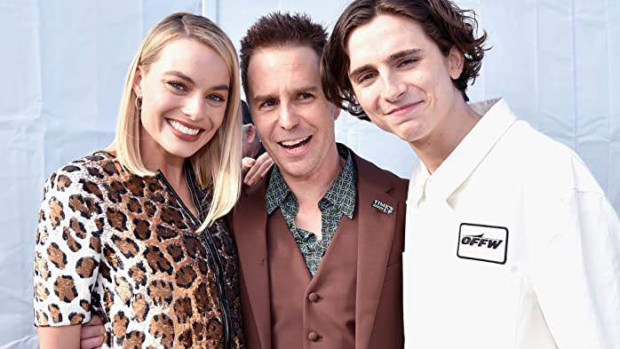 Sam Rockwell, Margot Robbie, and Timothée Chalamet at an event for 33rd Film Independent Spirit Awards (2018)